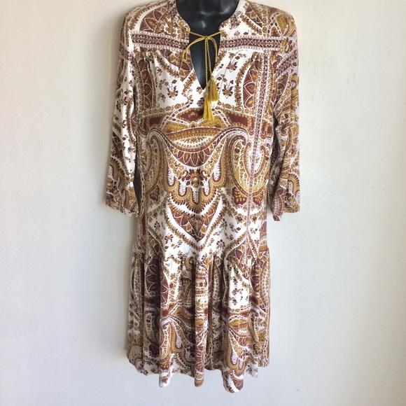 next Dresses & Skirts - Next Bohemian Dress Ruffled Sleeves Hem Sz 10 EUC